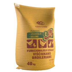 VIŠČIUKAMS BROILERIAMS Auginimo pabaigos (daugiau kaip 35 d.) 10kg
