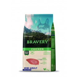 Bravery Mini Adult Chicken - 7kg (Begrūdis, hipoalerginis)