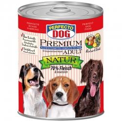 Perfecto Dog Premium Natural konservai šunims su jautiena ir dygminų aliejumi 800g
