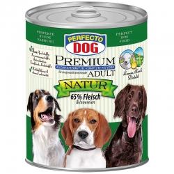 Perfecto Dog Premium Natural konservai su ėriena, ryžiais ir dygminų aliejumi 800g
