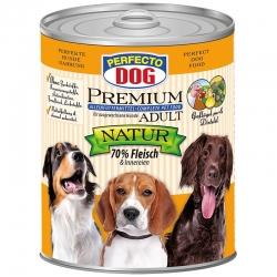 Perfecto Dog Premium Natural konservai su paukštiena ir dygminų aliejumi
