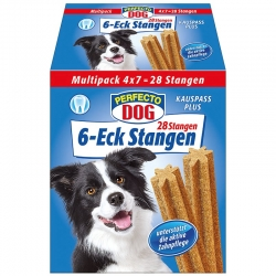 Perfecto Dog 6-Eck Dentasticks Multipack (28vnt) 720g