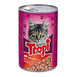 Tropi konservai katėms su jautienos gabaliukais padaže 415g
