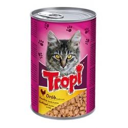Tropi konservai katėms su paukštienos gabaliukais padaže 415g