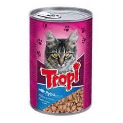Tropi konservai katėms su žuvies gabaliukais padaže 415g